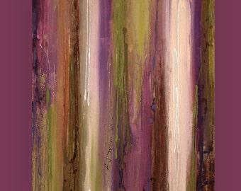 "Art Painting, painting, large painting,acrylic painting, landscape Painting , Acrylic painting, Wall Decor Ora Birenbaum MOSS 30x36x1.5"""
