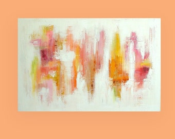 "Set of Two Huge Paintings Each 40x60x1.5"" Total size 60x80x1.5"" for Both Titled: Spring Fling 1 and 2 by Ora Birenbaum"