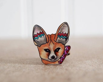 Fennec Fox Ring | Wearable Art | Gift Under 20