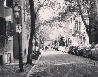 8x8 A Walk Down Beacon Hill - Boston, Beacon Hill, Fall