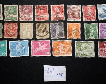 20 Vintage Stamps from Switzerland (lot 48)