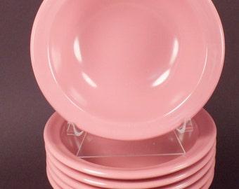 Pink Restaurant  Diner Salad, Fruit Bowls, Set of 6 Restraware