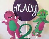 Barney Centerpiece/Barney Cake Topper/Baby Bop Centerpiece/Baby Bop Cake Topper/ Personalized Cake Topper/ Personalized Centerpiece/ Age