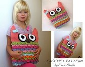 Crochet owl pillow pattern, PDF crochet pattern, owl pillow, owl soft toy pattern DIY tutorial