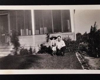 Original Antique Photograph Littlest Cowboy