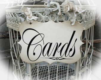 Cards Sign for Cards birdcage or Cards wedding box.