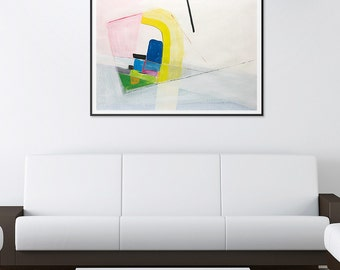 "Abstract painting landscape painting original painting 21.7"" x 31.5"" free shipping, It collects"
