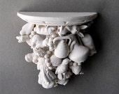 SALE Plaster Wall Shelf Assemblage Home Decor HALF OFF