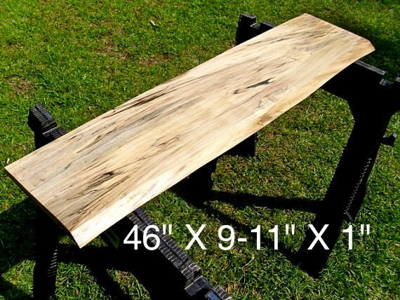 Live Edge Poplar Solid Hardwood Wood Slab By Hurricanemilling
