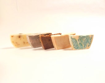 Guest Soap-  set of 5 -100 % Natural Handmade Cold Process Soap Savon From Scratch- SLS and Paraben Free