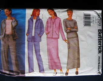 Butterick Misses Sweat Jacket Top Skirt Pants Pattern 6709 Size 18 20 22 Plus UC Uncut FF