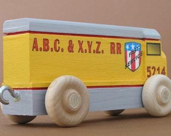 Yellow Wooden Toy 2nd Diesel Locomotive