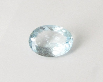 Natural Sky Blue Aquamarine, Unheated, Oval Cut, 8.12 carats