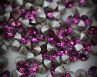 1100 28pp Xilion Genuine Swarovski Crystals Fuchsia Rounds Foiled Rhinestones 144pcs 1 Gross