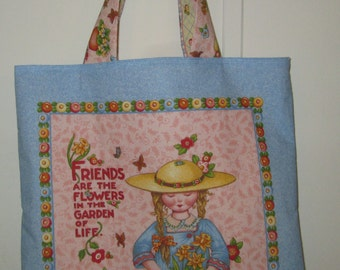 """Homemade """"Friends Are Flowers"""" Tote"""
