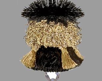 Black and Bronze Home Decor Tassel - Black and Gold Key Tassel - Lamp Tassel - Decorator Tassel - Drapery Tassel - Designer Tassel