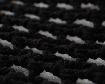 "Stuffed Animal Organizer in BLACK - The ""Lovey Corral"" Crochet Toy Hammock - Fast Turnaround"