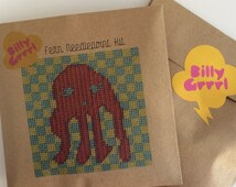 Octopus, Modern Needlepoint Kit, Sea Creature Embroidery, DIY Kit
