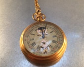 Retro Style Pocket Watch on a Pocket Watch Chain, Pocket Watch, Mechanical Movement