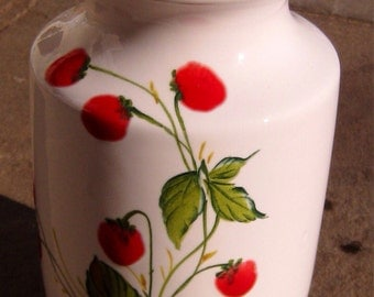 Signed Unusual Beautiful Hand-Painted Art Ceramic White Vase