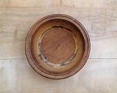 Vintage Wood Bowl - Cabin Natural Rustic Primitive