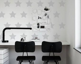 Vinyl Wall Decals Stars, Kit Of 40 Stars, Home Decoration, Nursary, Kids Room Stickers, Office Decor - ID673