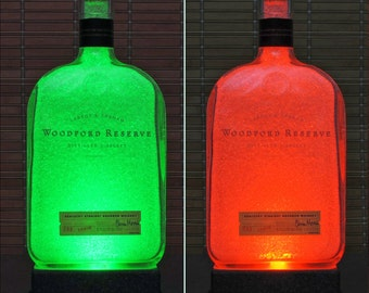 Woodford Reserve Kentucky Bourbon Whiskey Color Changing LED Bottle Lamp Remote Control Bar Light
