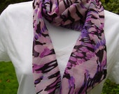 Bias Fashion Scarf - Silky Rayon Blend - RESERVED for KATHY S