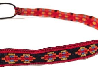 SALE // Red, Black, and Orange Triangle Aztec Tribal Headband