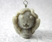 Doctor Who inspired scary Weeping Angel chibi charm- Necklace, cell phone charm, dust plug