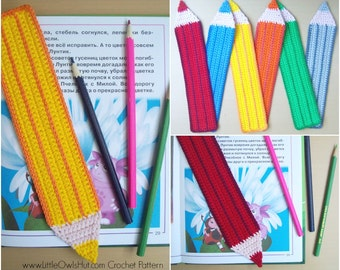017 Pencil Bookmark - Amigurumi Crochet Pattern - PDF file by Zabelina Etsy