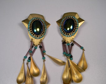 Big Bold Statement Party Earrings, Fun 80s Clip Ons, For Women Who Like To Be Noticed