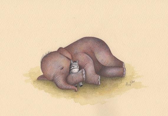 original gem lde schlafen baby elefant. Black Bedroom Furniture Sets. Home Design Ideas