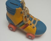 80s Rollerskates Money Bank