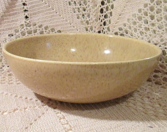Vintage Yellow Speckled Serving Bowl, Red Wing?