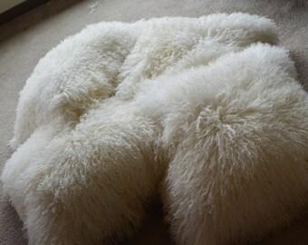 Mongolian Lamb pillow Double-sided pillow