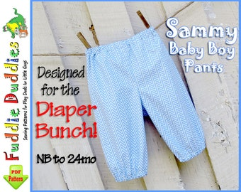 Quick and Easy Boy's Pants Pattern. Baby Pants Pattern. Infant Pants Pattern, Boy's Sewing Pattern. Infant Sewing Pattern. NB-24months.