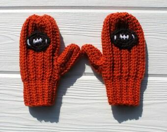 Football Mittens, Crochet Sports Mittens, Children's Mittens, Made to Order