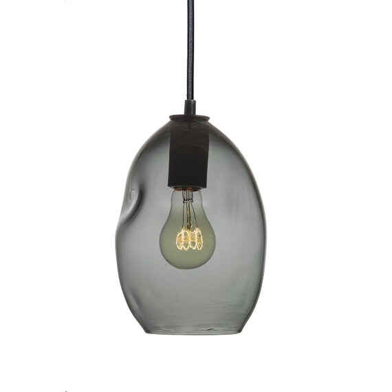 Items Similar To Industrial Lighting: Items Similar To Bubble Smoke Grey Hand Blown Glass