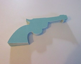 Baby blue gun die cuts(25 count)