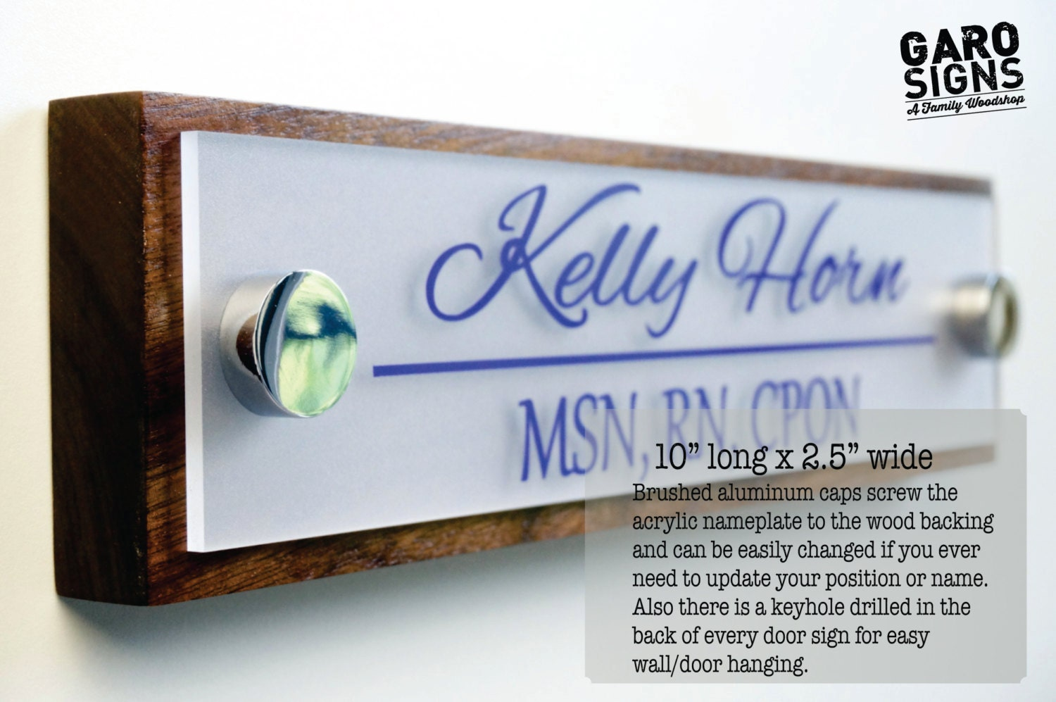 Name Plate: Office Door Name Plate Personalized Office Accessories And