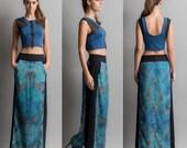 On sale-Long printed skirt