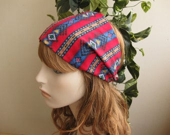 Navajo Southwestern Bandana Headband Womens Headband Fabric Headband Tribal Head Wrap Aztec Headband Hair Accessory Womens Gift for Her