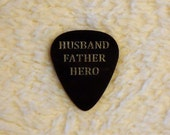 HUSBAND FATHER HERO Personalized Custom Engraved Guitar Pick/Plectrum