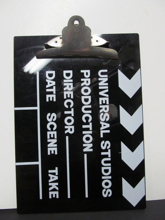 Vintage 1970 Universal Studios Directors Clipboard
