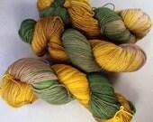 Loki on Max 80/20 SW Merino Nylon Hand dyed fingering weight sock yarn