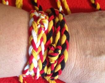 TShirt Wrap Braided Bracelet