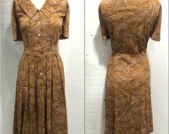 1950s Shirtwaist Day Dress