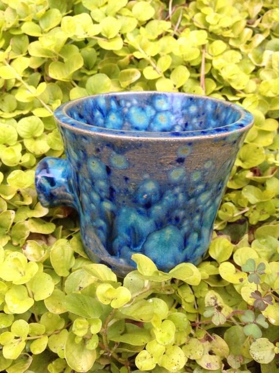 Waterfall Blue Knob Mug, mug, coffee mug, tea mug, ceramic mug, cup