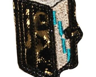 ID #0983 School Journal Notebook Teacher Class Embroidered Iron On Badge Applique Patch